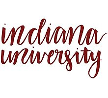 indiana university Photographic Print