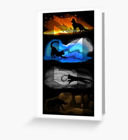 Warrior Cats: Four Elements, Four Clans Greeting Card
