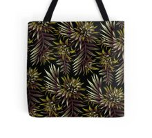 Fasciata Tropical Floral - Dark Green / Brown Tote Bag