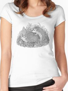 The Hedgehogs Women's Fitted Scoop T-Shirt