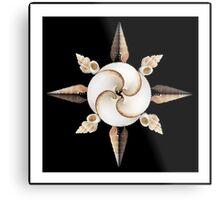 shell compass w/ border Metal Print