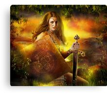 Guerrier Canvas Print