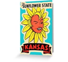 Kansas KS State Vintage Travel Decal Greeting Card