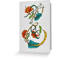 Letters - E/1 Greeting Card