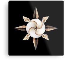 shell compass Metal Print