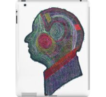 Old Man Thread Art Silhouette iPad Case/Skin