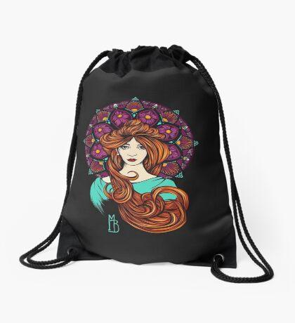 Lady Mandala I Drawstring Bag