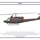 Bell 212 Argentina 1 by Claveworks