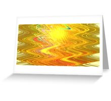 Goldenrod Waves Greeting Card