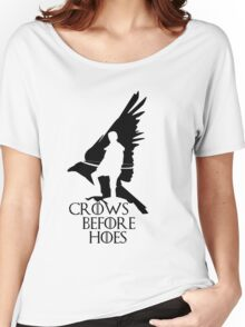 Game of thrones-Crows before hoes Women's Relaxed Fit T-Shirt