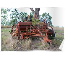 Old Rusty Farm Implement Poster
