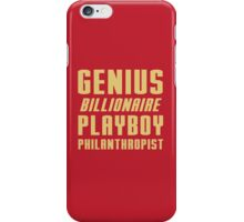 Genius Billionaire Playboy Philanthropist iPhone Case/Skin
