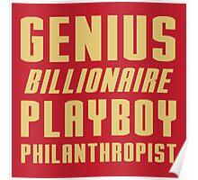 Genius Billionaire Playboy Philanthropist Poster
