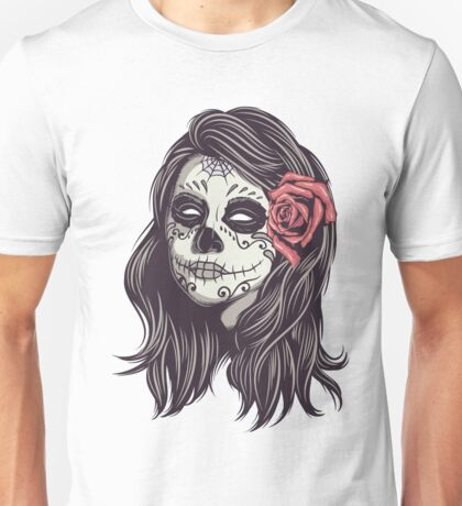 Sugar Skull Bride Unisex T-Shirt