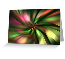 Green Petals Greeting Card