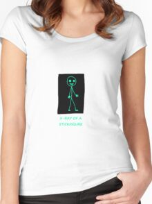 X-ray of a Stick figure Women's Fitted Scoop T-Shirt