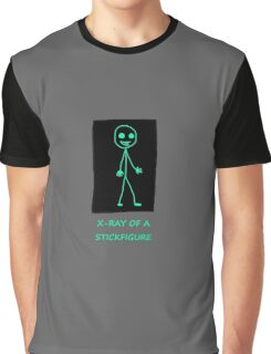 X-ray of a Stick figure Graphic T-Shirt
