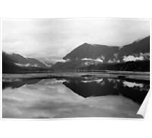 Lake Cushman (Black and White) Poster
