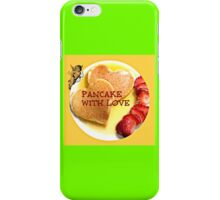 pancake valentines iPhone Case/Skin