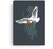 Seagulls Vs. Bagels Canvas Print