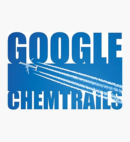 Google Chemtrails Photographic Print