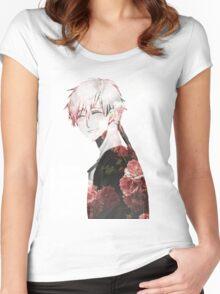 Flowery Zen~ Women's Fitted Scoop T-Shirt