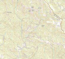 USGS TOPO Map California CA Castle Rock Ridge 20120510 TM geo Sticker