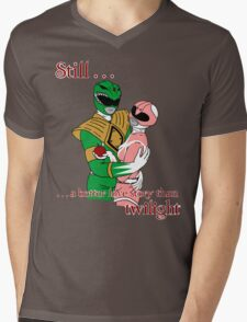 Twilight Rangers Green Ver. Mens V-Neck T-Shirt