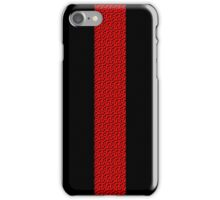 Red Woven Stripe iPhone Case/Skin