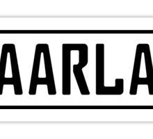 Saarland Kennzeichen Sticker