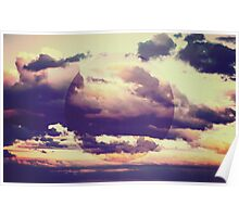 Abstract Boho Clouds Poster