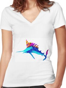 Sailfish dream Women's Fitted V-Neck T-Shirt