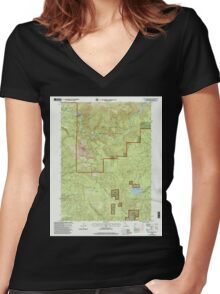 USGS TOPO Map California CA Chalk Mountain 100028 1998 24000 geo Women's Fitted V-Neck T-Shirt