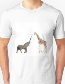 The giraffe and the elephant Unisex T-Shirt