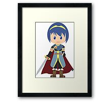 Chibi Marth Vector Framed Print