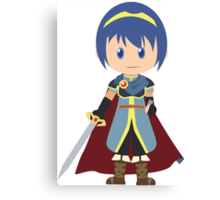 Chibi Marth Vector Canvas Print