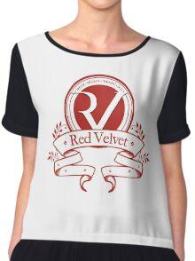 Red Velvet - Logo Chiffon Top