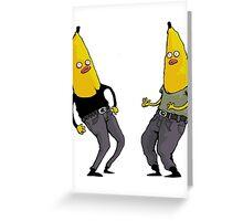 bananas in regular clothing Greeting Card