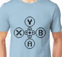 Buttons Quadrilogy - Contrast Design - Black Unisex T-Shirt