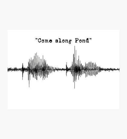 Doctor Who - Come Along Pond Photographic Print