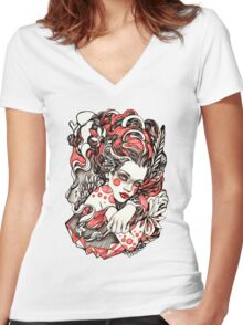 Exhale Women's Fitted V-Neck T-Shirt