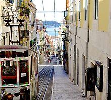 Rua de Bica de Duarte Belo, Lisbon, Portugal. by eabrams
