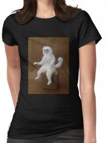 Persian Cat Meme Womens Fitted T-Shirt