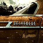 Abandoned 1961 Plymouth Belvedere detail by mal-photography