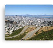 Twin Peaks, San Francisco Canvas Print