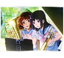 Wind Instruments Girls Poster