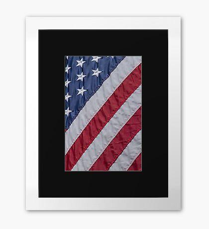 American Flag Stars and Stripes USA Framed Print