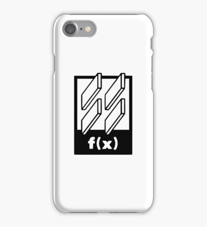f(x) - 4 Walls - Logo iPhone Case/Skin