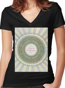 Trippy Animal Collective #2 Women's Fitted V-Neck T-Shirt
