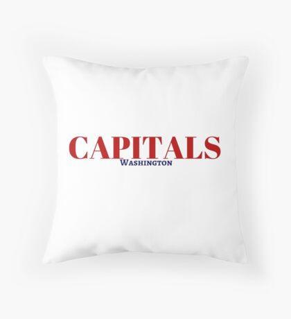 Capitals Throw Pillow